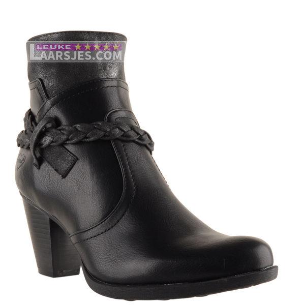 | Fabulous Fabs Zwarte enkellaarsjes